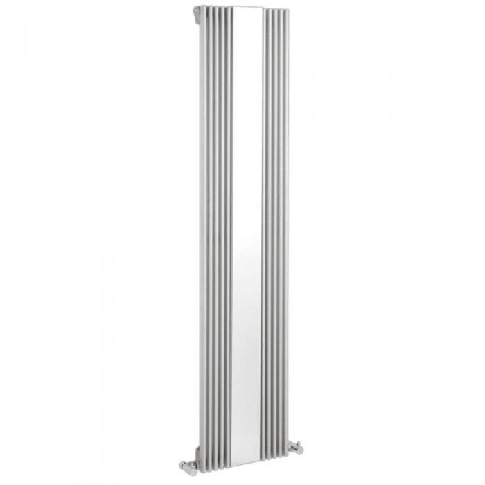 Radiateur Design Vertical avec Miroir Blanc Keida 160cm x 42cm x 6,3cm 840 Watts