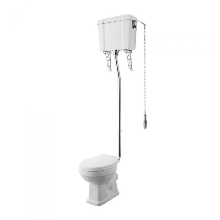 WC Rétro - Blanc - Chasse d'eau Haute