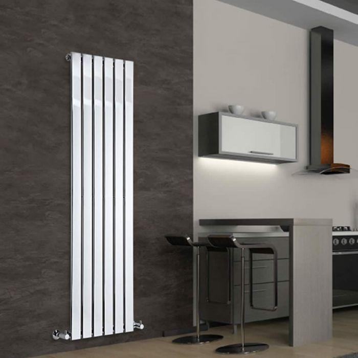 Radiateur Design Vertical Chromé Delta 160cm x 45cm x 5cm 590 Watts