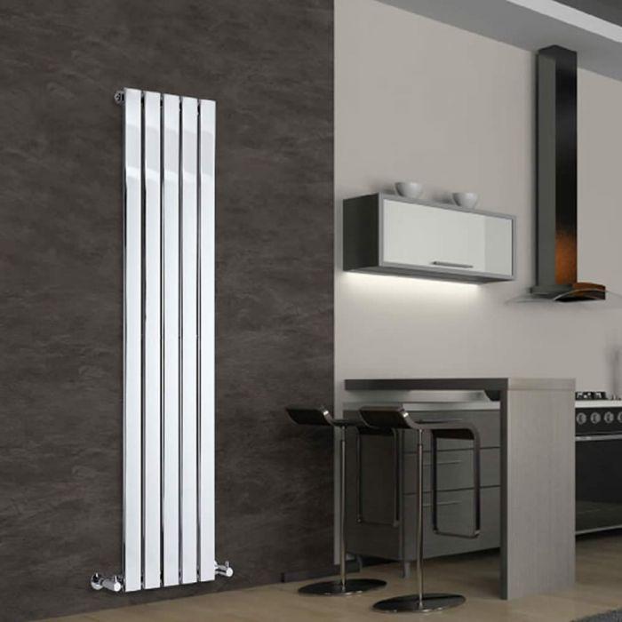Radiateur Design Vertical Chromé Delta 160cm x 37,5cm x 5cm 492 Watts