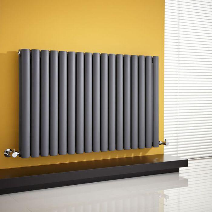 Radiateur Design Horizontal Anthracite Vitality 63,5cm x 100cm x 7,8cm 1584 Watts