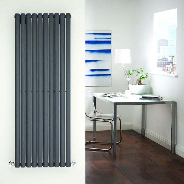 Radiateur Design Vertical Anthracite Vitality 160cm x 59cm x 5,5cm 1402 Watts