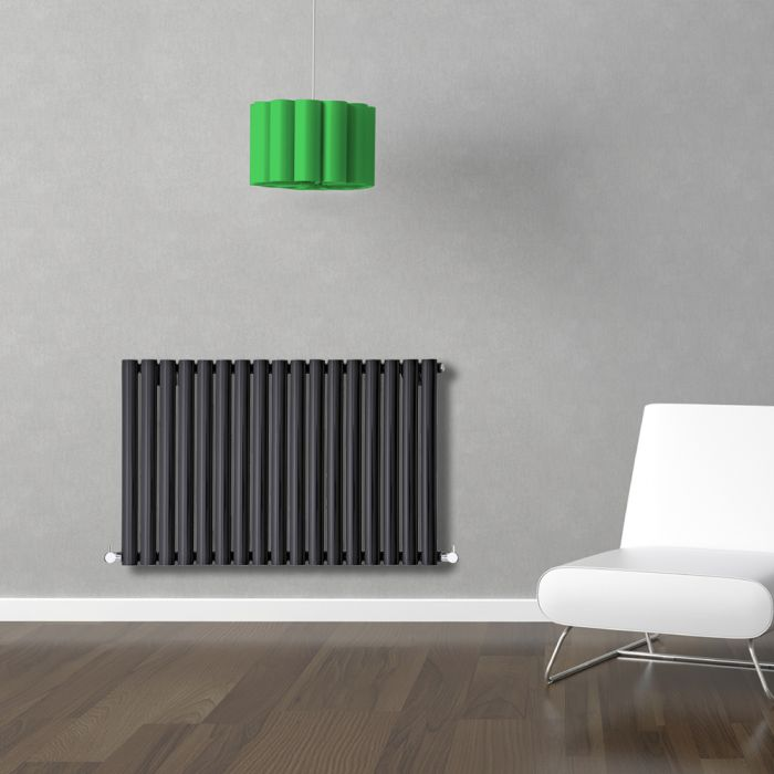 Radiateur Design Horizontal Noir Vitality 63,5cm x 100cm x 5,5cm 1015 Watts