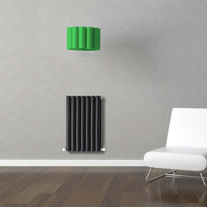 Radiateur Design Horizontal Noir Vitality 63,5cm x 41,5cm x 7,8cm 652 Watts