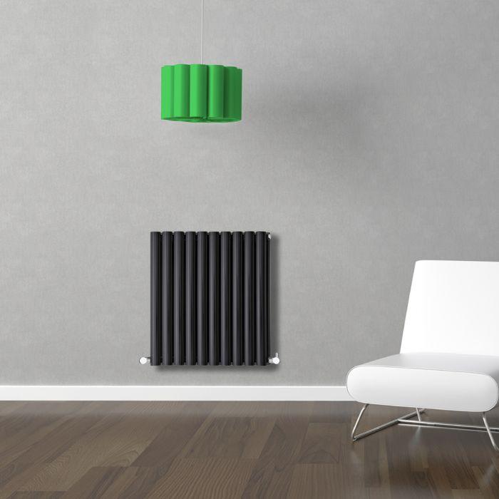 Radiateur Design Horizontal Noir Vitality 63,5cm x 59,5cm x 7,8cm 932 Watts