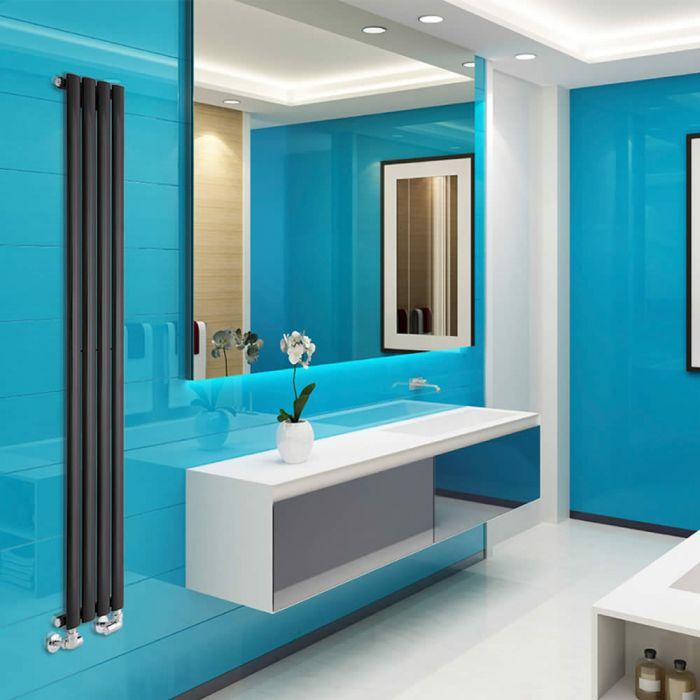 Radiateur Design Vertical Noir Vitality 160cm x 23,6cm x 5,6cm 561 Watts