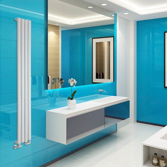 Radiateur Design Vertical Blanc Vitality 178cm x 23,6cm x 5,6cm 595 Watts