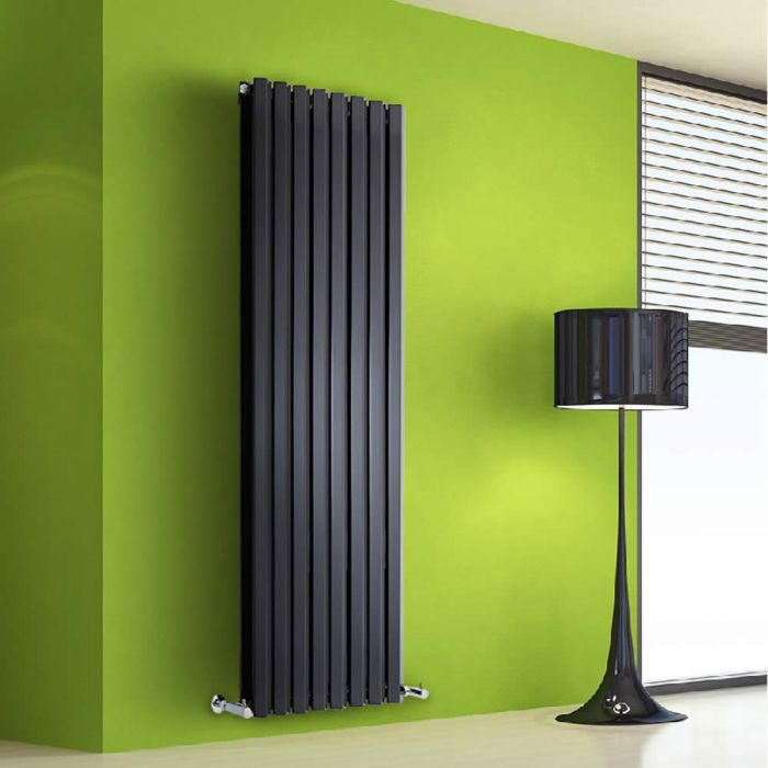 Radiateur Design Vertical Noir Salisbury 160cm x 56cm x 8,6cm 1967 Watts