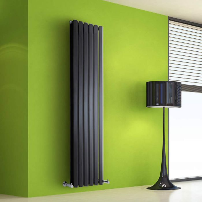 Radiateur Design Vertical Noir Salisbury 160cm x 42cm x 8,6cm 1475 Watts