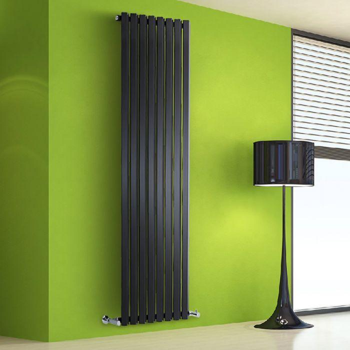 Radiateur Design Vertical Noir Salisbury 178cm x 56cm x 6cm 1401 Watts