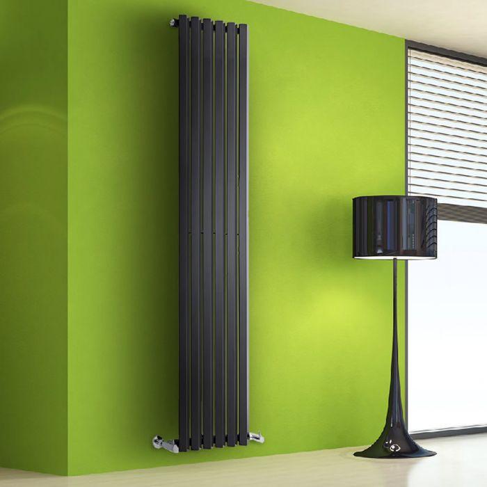 Radiateur Design Vertical Noir Salisbury 178cm x 42cm x 6cm 1050 Watts