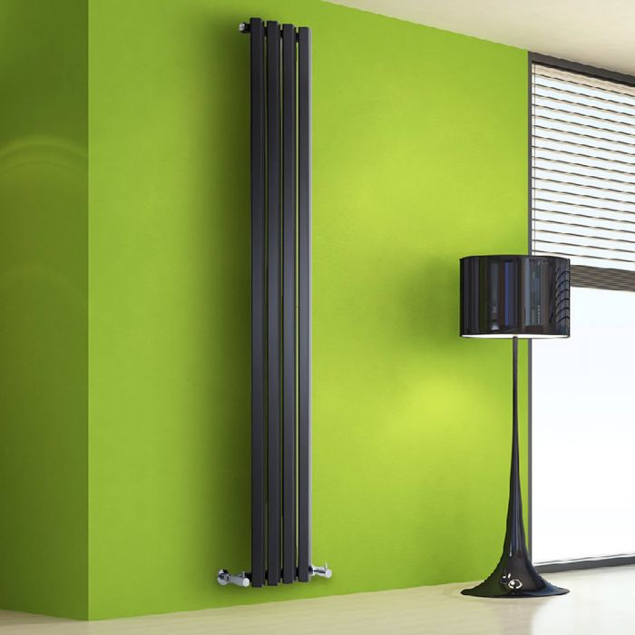 Radiateur Design Vertical Noir Salisbury 178cm x 28cm x 6cm 700 Watts