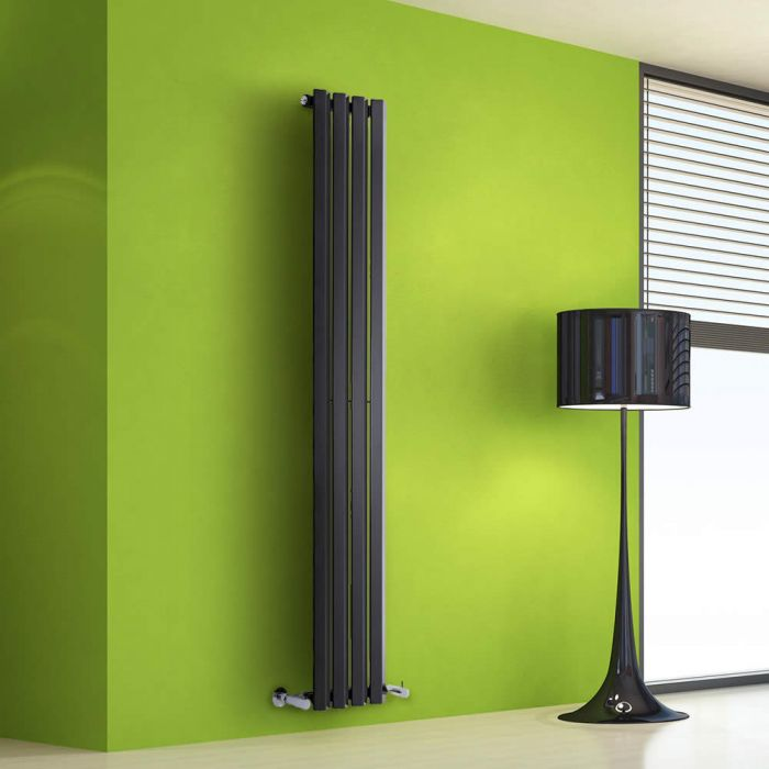 Radiateur Design Vertical Noir Salisbury 160cm x 28cm x 6cm 630 Watts