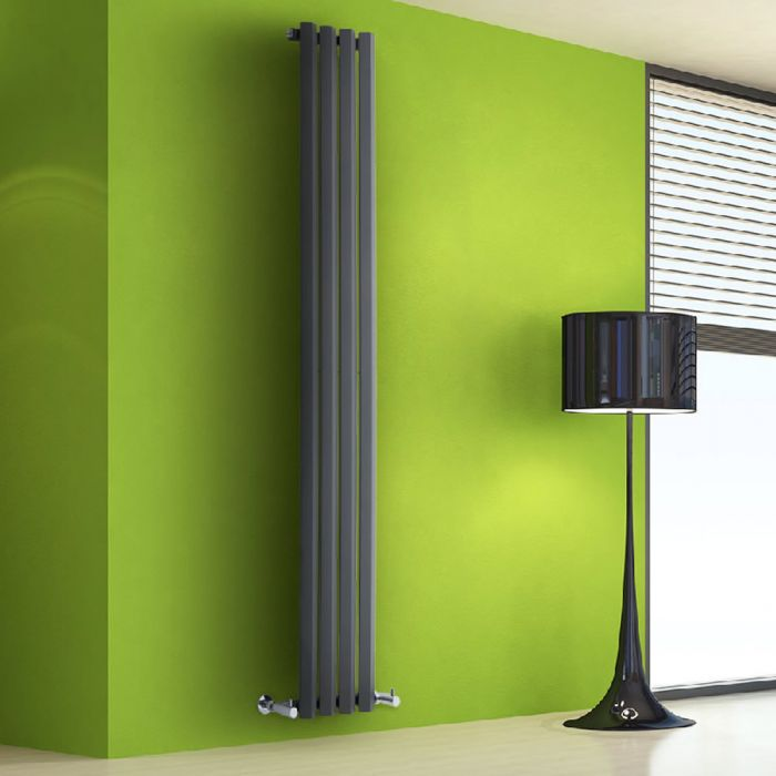 Radiateur Design Vertical Anthracite Salisbury 178cm x 28cm x 6cm 700 Watts