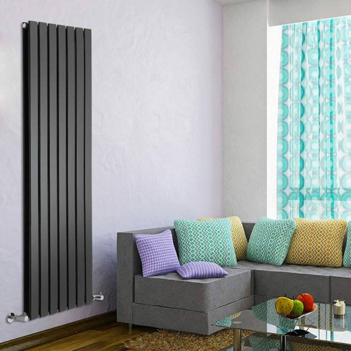 Radiateur Design Vertical Noir Delta 160cm x 49cm x 6cm 1543 Watts