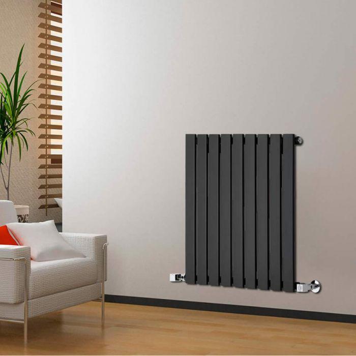 Radiateur Design Horizontal Noir Delta 63,5cm x 63cm x 4,6cm 563 Watts
