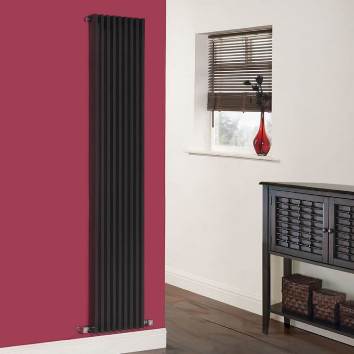 Radiateur Design Vertical Noir Parallel 178cm x 34,2cm x 8,4cm 1177 Watts