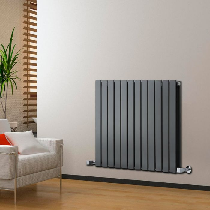Radiateur Design Horizontal Anthracite Delta 63,5cm x 84cm x 5,8cm 1146 Watts