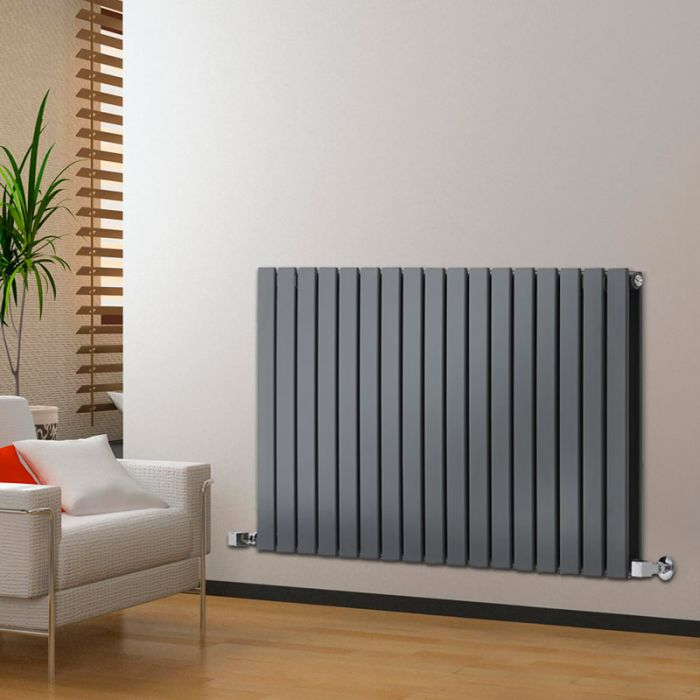 Radiateur Design Horizontal Anthracite Delta 63,5cm x 119cm x 5,8cm 1624 Watts