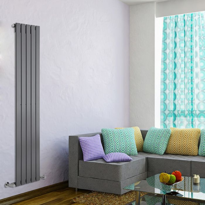 Radiateur Design Vertical Anthracite Delta 160cm x 35cm x 4,7cm 733 Watts