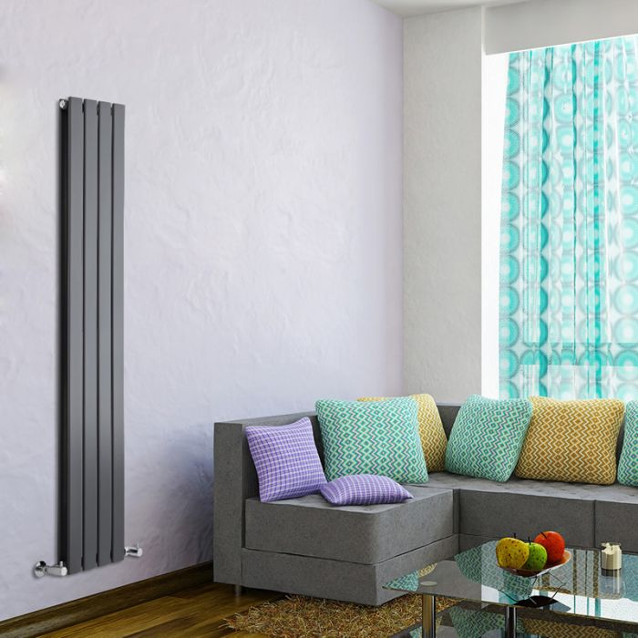 Radiateur Design Vertical Anthracite Delta 160cm x 28cm x 6cm 882 Watts