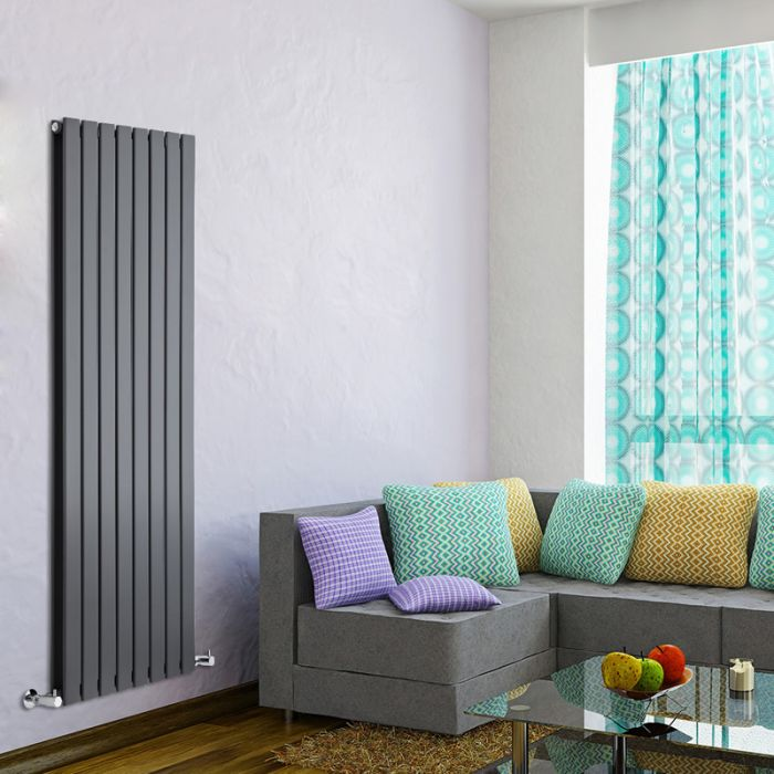 Radiateur Design Vertical Anthracite Delta 160cm x 56cm x 6cm 1764 Watts