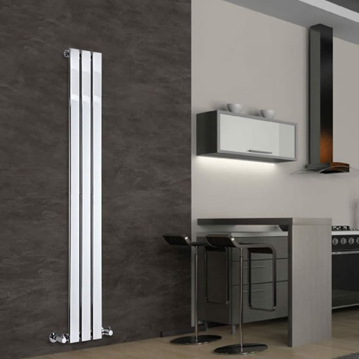 Radiateur Design Vertical Chromé Delta 160cm x 22,5cm x 5cm 295 Watts