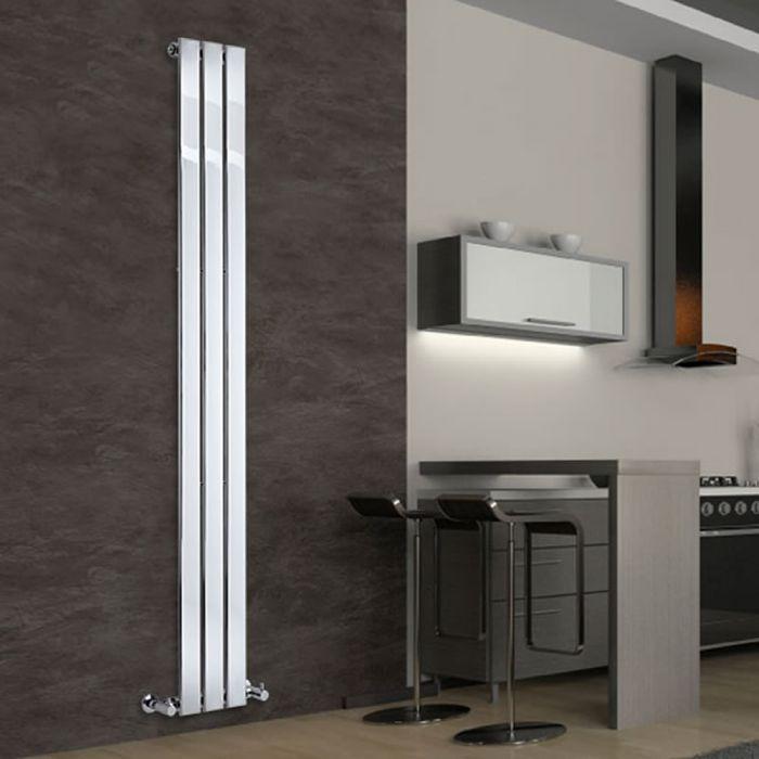 Radiateur Design Vertical Chromé Delta 180cm x 22,5cm x 5cm 334 Watts