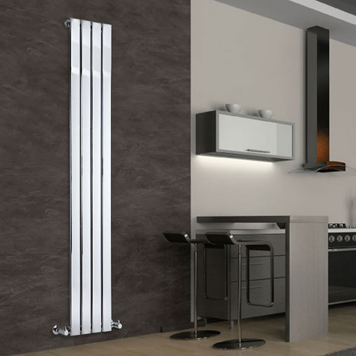 Radiateur Design Vertical Chromé Delta 180cm x 30cm x 5cm 445 Watts