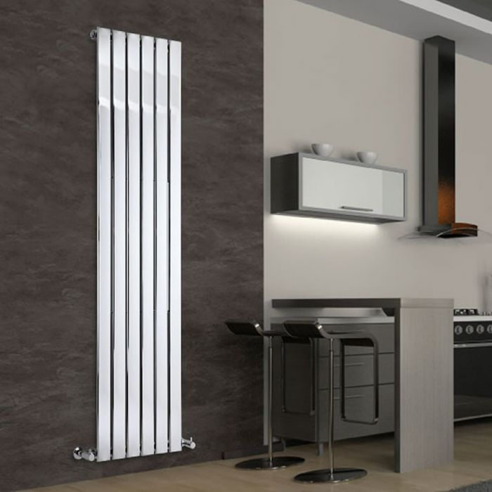Radiateur Design Vertical Chromé Delta 180cm x 45cm x 5cm 668 Watts