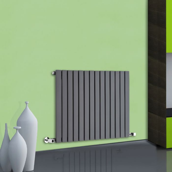 Radiateur Design Horizontal Anthracite Sloane 63,5cm x 83,4cm x 5,4cm 842 Watts