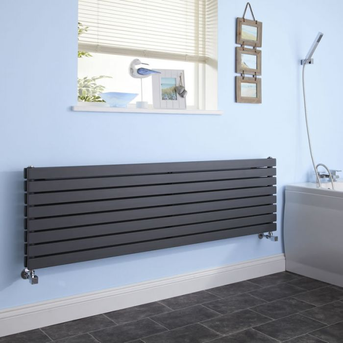 Radiateur Design Horizontal Anthracite Sloane 47,2cm x 160cm x 7,1cm 1577 Watts