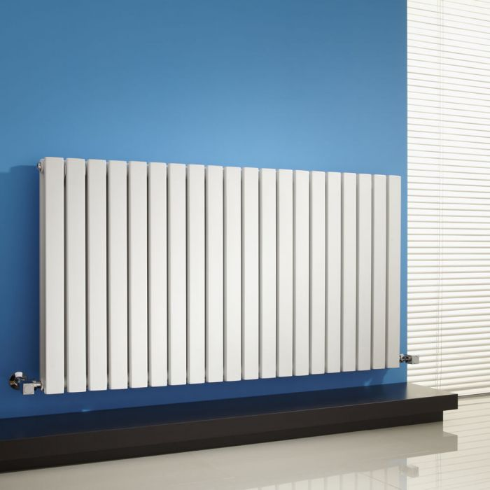 Radiateur Design Horizontal Blanc Sloane 63,5cm x 118cm x 7,1cm 1867 Watts