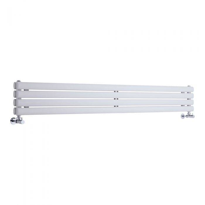 Radiateur Design Horizontal Blanc Vitality 23,6cm x 160cm x 5,6cm 815 Watts