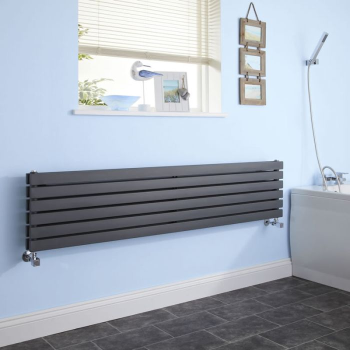 Radiateur Design Horizontal Anthracite Sloane 35,4cm x 178cm x 7,1cm 1426 Watts