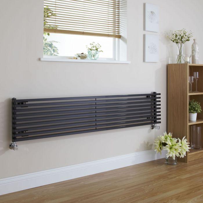Radiateur Design Horizontal Noir Parallel 34,2cm x 178cm x 8,4cm 1227 Watts