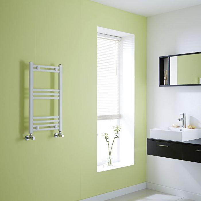 Hudson Reed Sèche-Serviettes Incurvé Blanc Etna 70cm x 40cm x 3,8cm 276 Watts