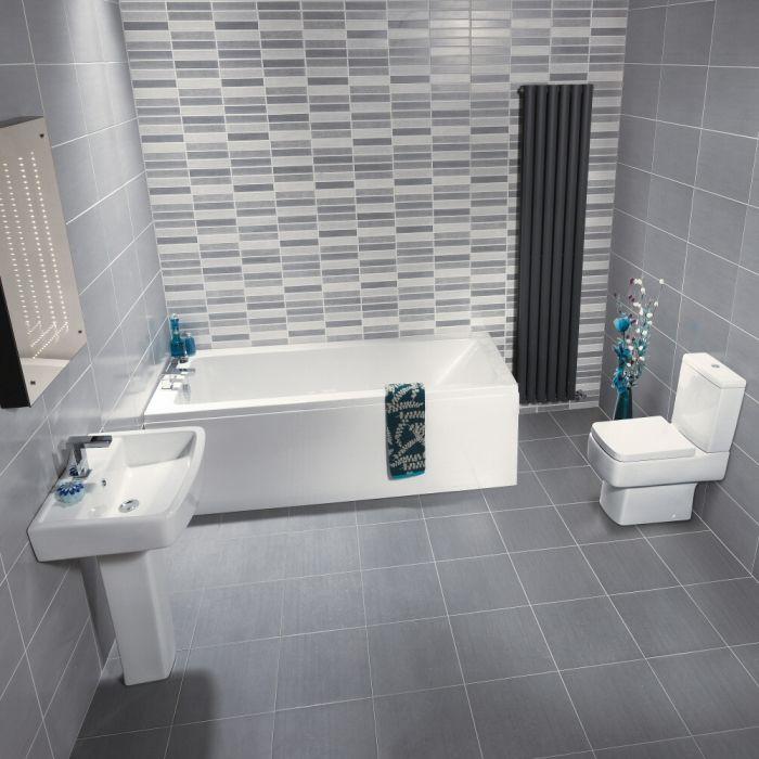 Ensemble baignoire, lavabo et toilette WC moderne Bliss