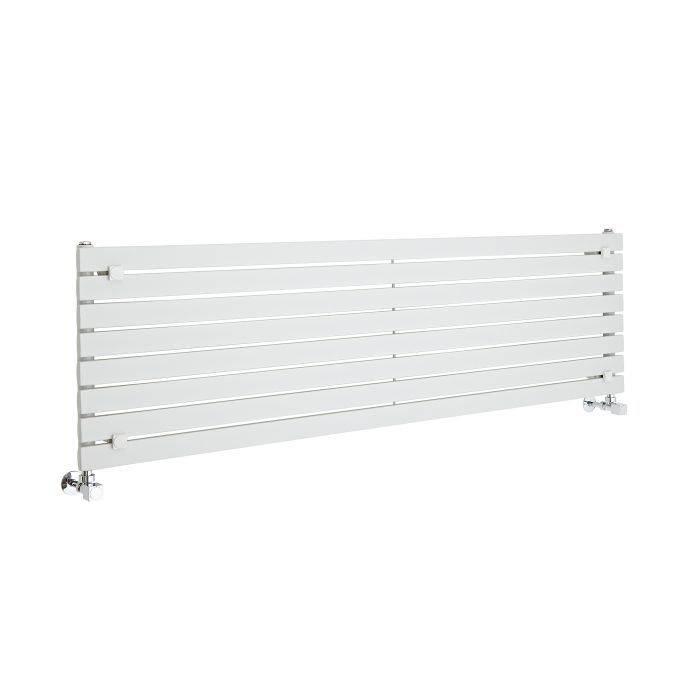 Radiateur Design Horizontal Blanc Sloane 47,2cm x 160cm x 5,4cm 1043 Watts