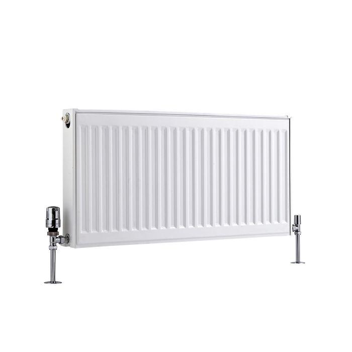 Radiateur À Panneaux Type 21 Horizontal Blanc Eco 40cm x 80cm x 7,3cm 765 Watts