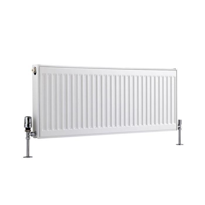 Radiateur À Panneaux Type 21 Horizontal Blanc Eco 40cm x 100cm x 7,3cm 956 Watts