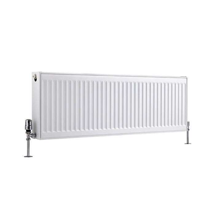 Radiateur À Panneaux Type 22 Horizontal Blanc Eco 40cm x 120cm x 10,3cm 1387 Watts