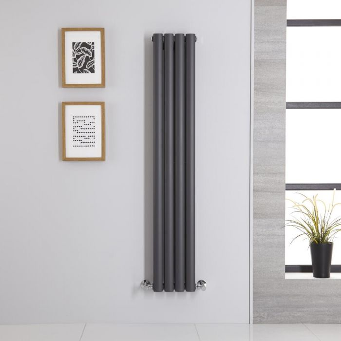 Radiateur Vertical Vitality Anthracite 140cm x 23.6cm x 7.8cm 696 watts