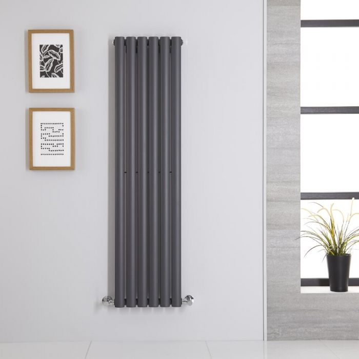 Radiateur Vertical Vitality Anthracite 140cm x 35.4cm x 5.6cm 686 watts