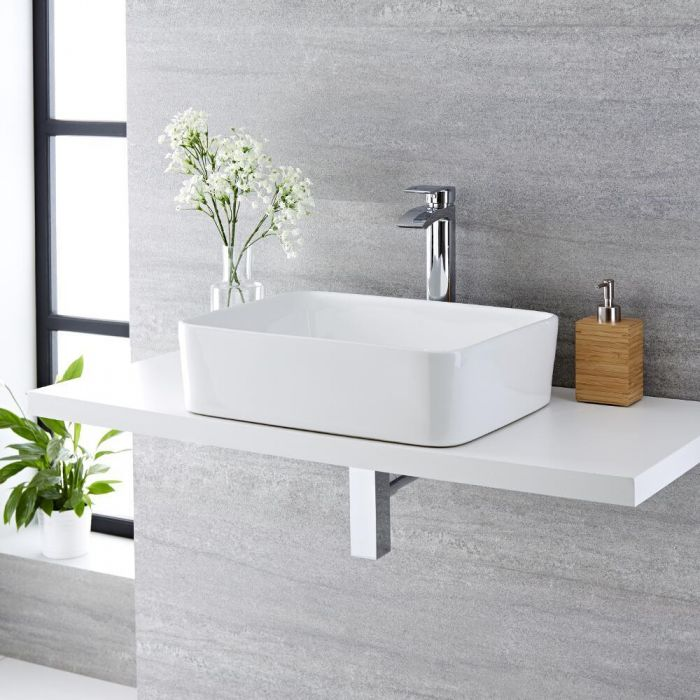 Vasque à poser rectangulaire Alswear 48 x 37cm