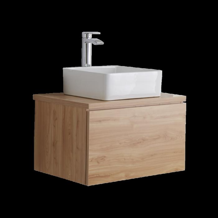 meuble sous lavabo carr chne dor newington 60cm