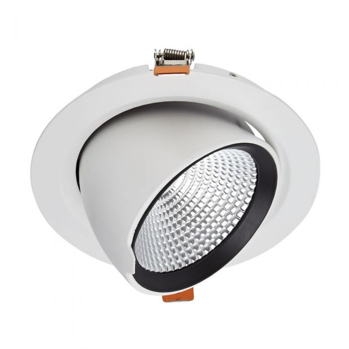 Biard Spot LED Encastrable 35 Watts Dimmable & Orientable Blanc Ø18cm