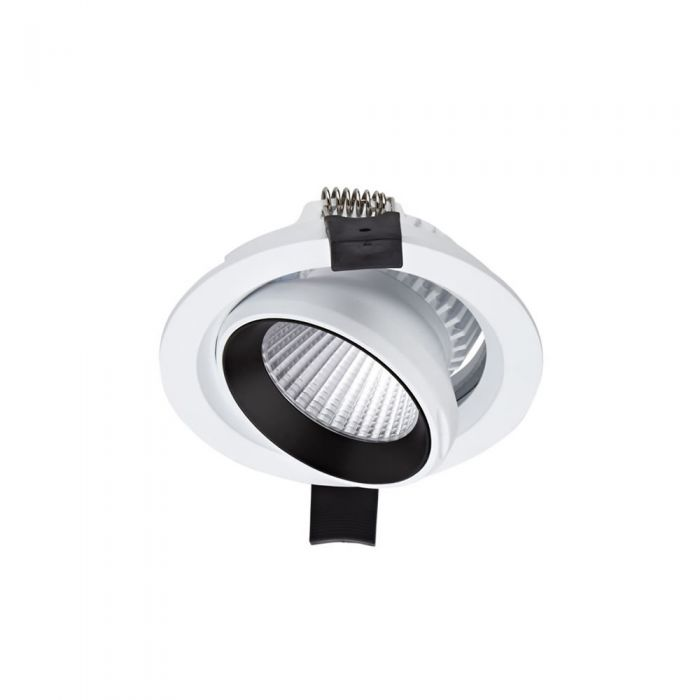 Biard Spot LED Encastrable 10 Watts Dimmable & Inclinable Blanc Ø10cm