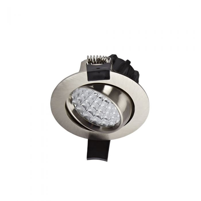 Biard Spot LED Encastrable 7 Watts Dimmable & Orientable Nickel brossé Ø8.1cm