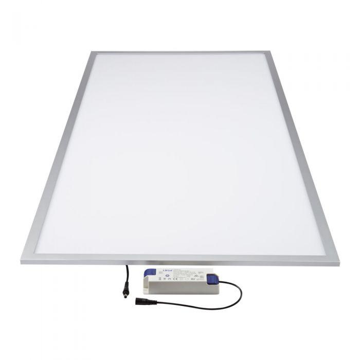 Biard Plafonnier LED 60W 60x120cm Cadre Argent